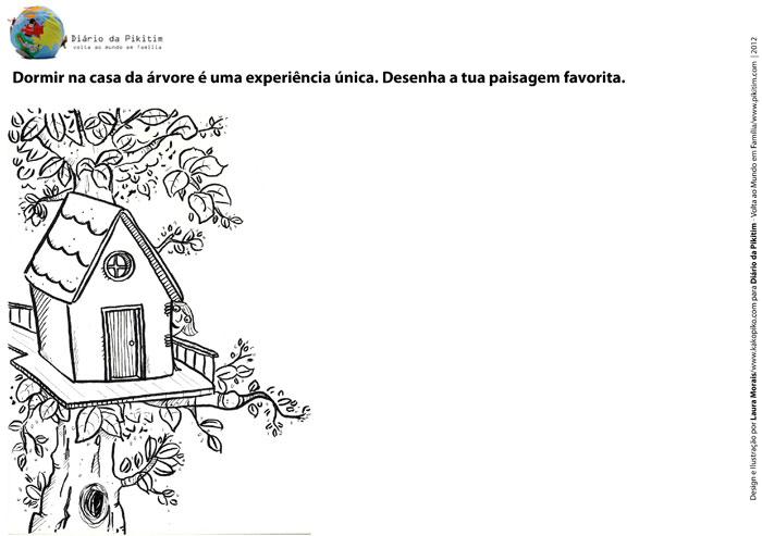 Desenhar e Colorir - Casa da árvore