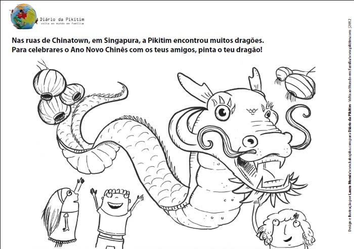 Desenhar e Colorir - Ano do Dragão