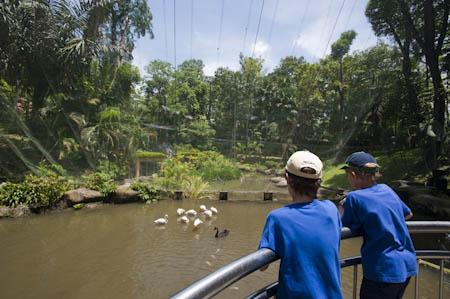 Dois adolescentes no Bird Ark de Kuala Lumpur