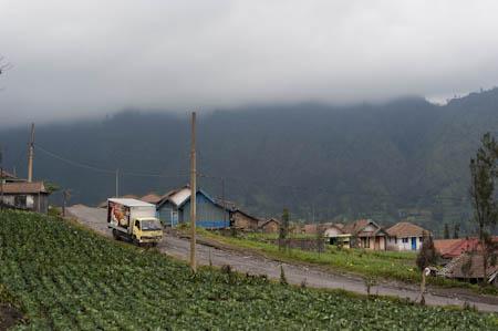 Vista de Cemoro Lawang, às portas do vulcão Bromo