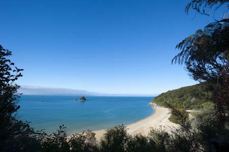 A beleza da paisagem no Parque Natural Abel Tasman