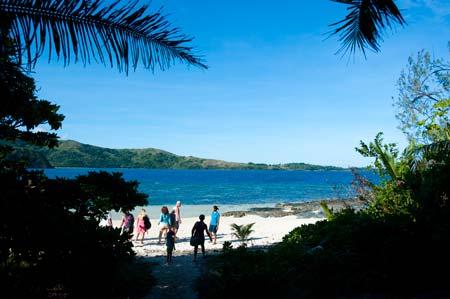 Uma das três praias onde está instalado o Barefoot Lodge, ilha Drawaqa, Fiji