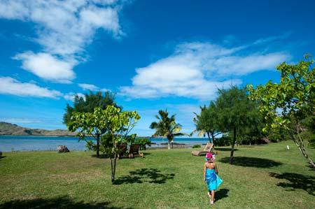 A Pikitim no Coral View Resort, ilha Tavewa, norte das Yasawas