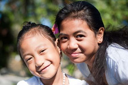 Crianças em Rarotonga
