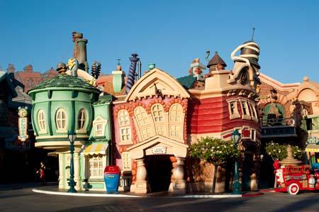 A cidade dos cartoons, na Disneyland