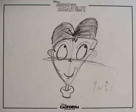 Esboço de Victor, do filme Frankenweenie