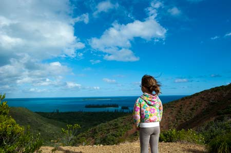 Vista a caminho do Pic N'ga, o ponto mais alto de Îles des Pins
