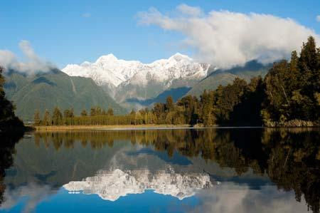 Vista do maravilhoso lago Matheson