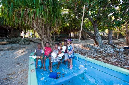 Crianças em Lelepa, Vanuatu