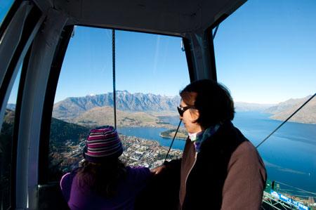 Viagem no teleférico Skyline Gondola