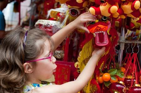 Com o Ano do Dragão à porta, em Chinatown