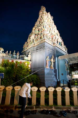 Templo Sri Srinivasa Peruma, em Little India