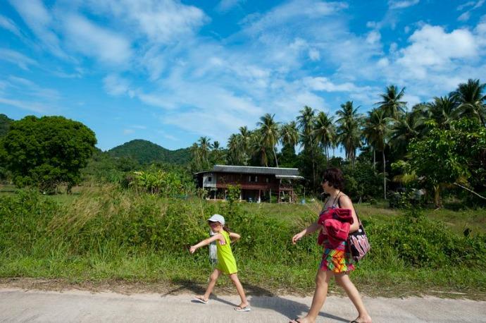 viajar monoparental yao yai Tailandia