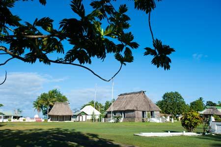 Centro da aldeia de Viseisei, o primeiro território a ser colonizado em Viti Levu